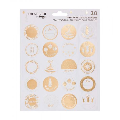 Stickers cadeaux de Noël - 20 pcs