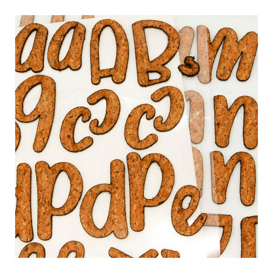 Alphabet en liège Dragonfly  126 pcs