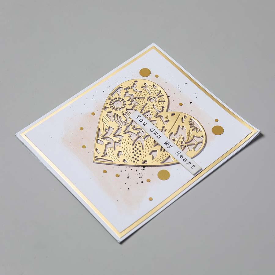 Thinlits Die Set Cœur fleuri - 9 pcs