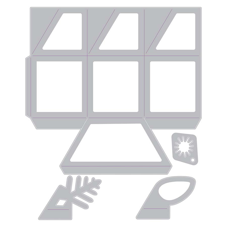 Thinlits Die Set Boîte hexagonale - 4 pcs