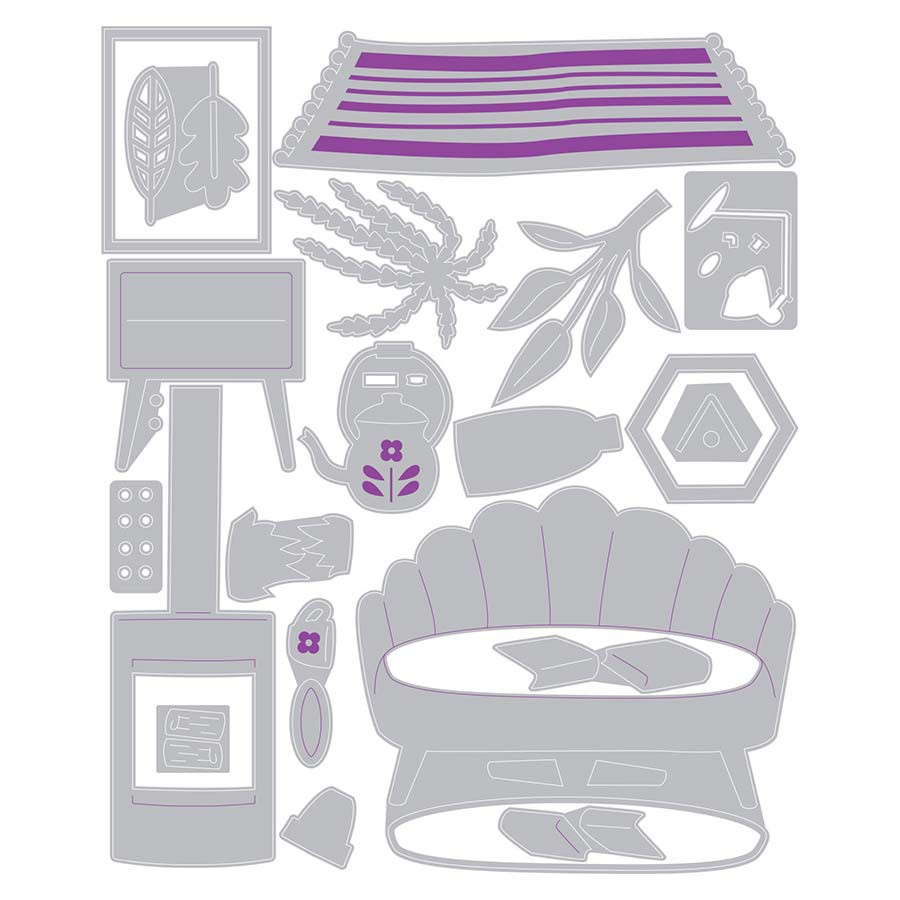 Thinlits Die Set Salon cosy - 20 pcs
