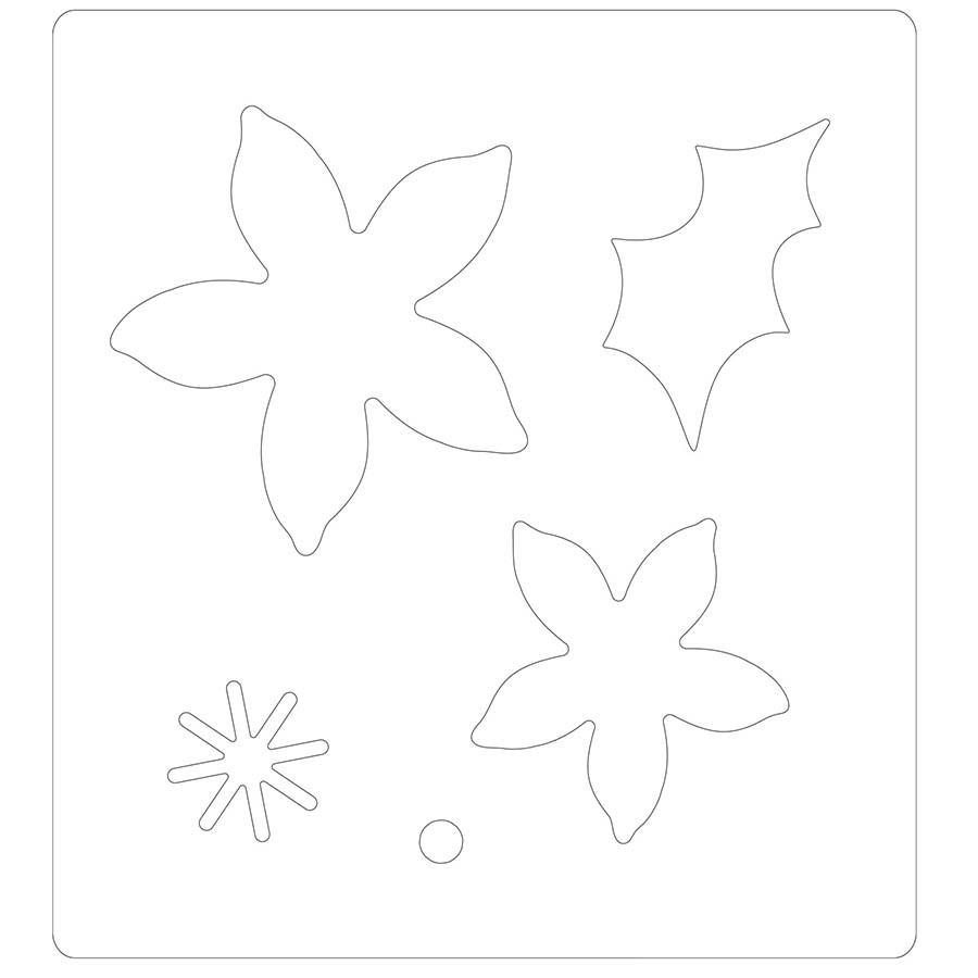 Bigz Die Poinsettia d'hiver