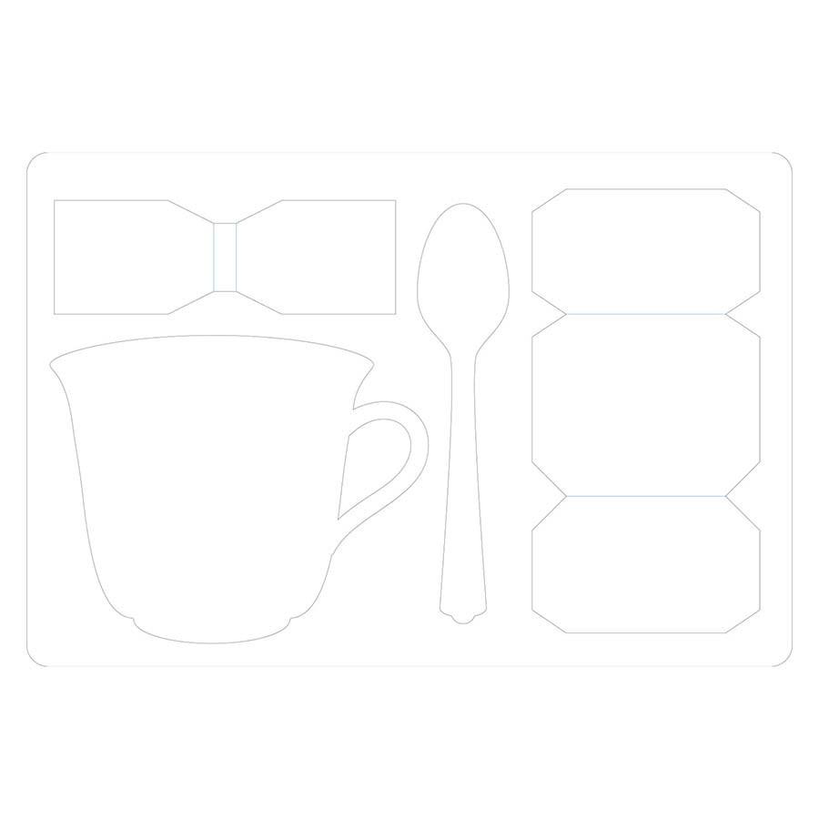 Scoreboards L Die Tasse avec cuillère 3D