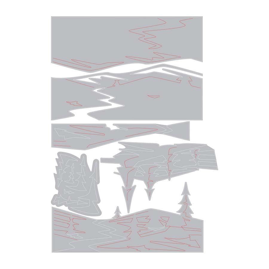 Thinlits Die Set Colorize Paysage enneigé - 6 pcs