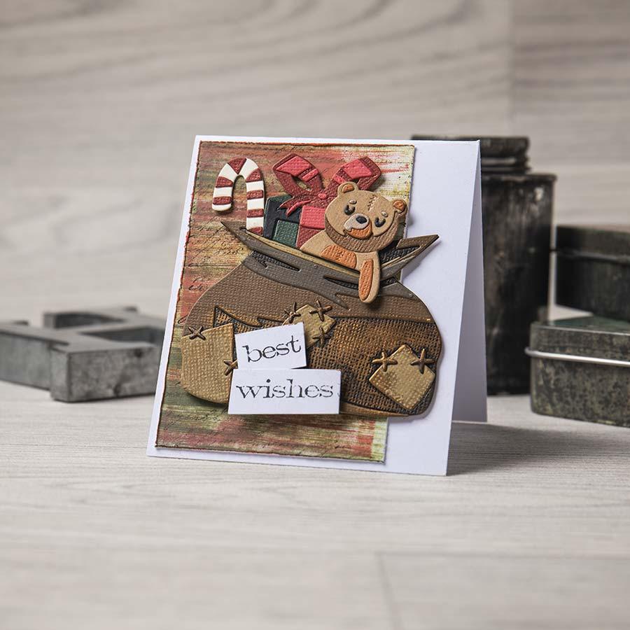 Thinlits Die Set Colorize Sac du Père Noël - 17 pcs