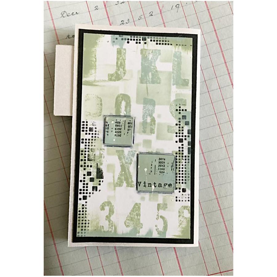 Tampons transparents #397 Alphabet Grunge
