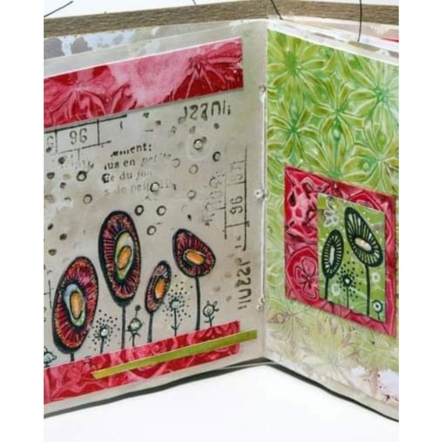 Tampon Texture Papier peint vintage #4 - A6