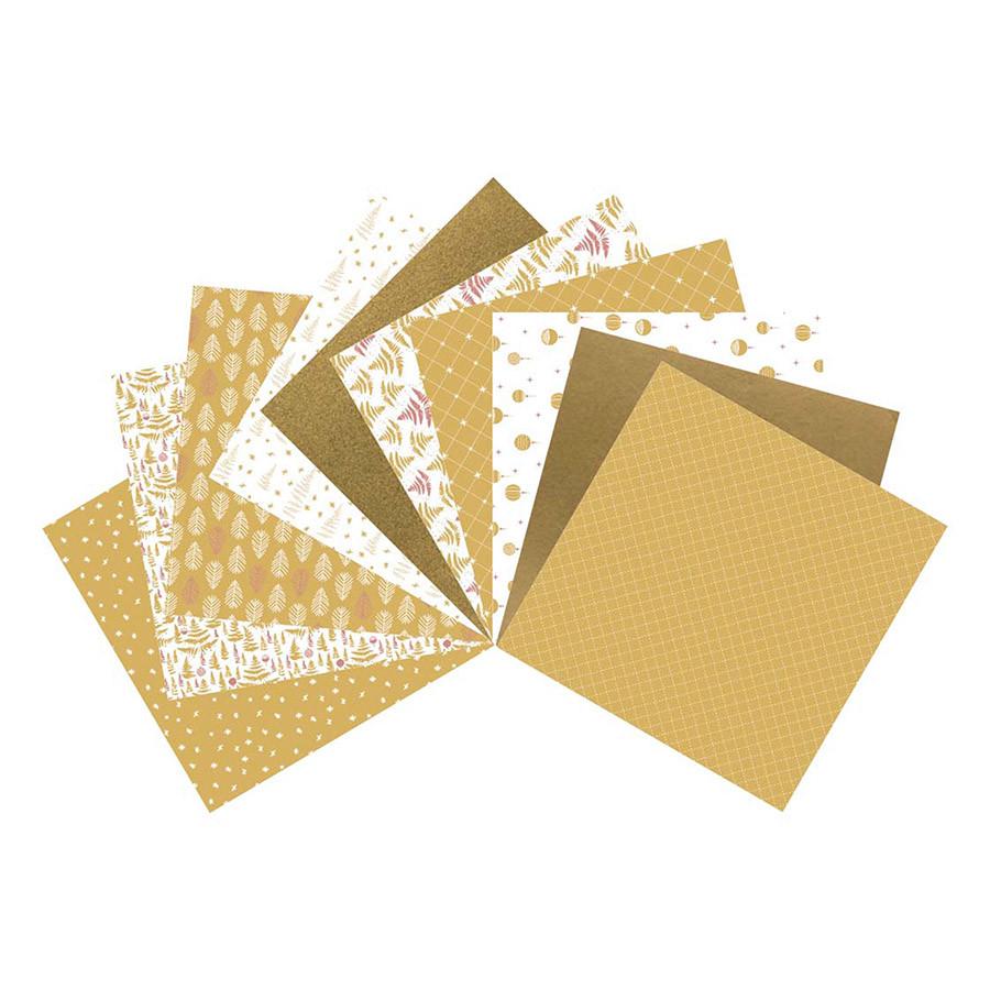 Assortiment de 10 papiers Réveillon or