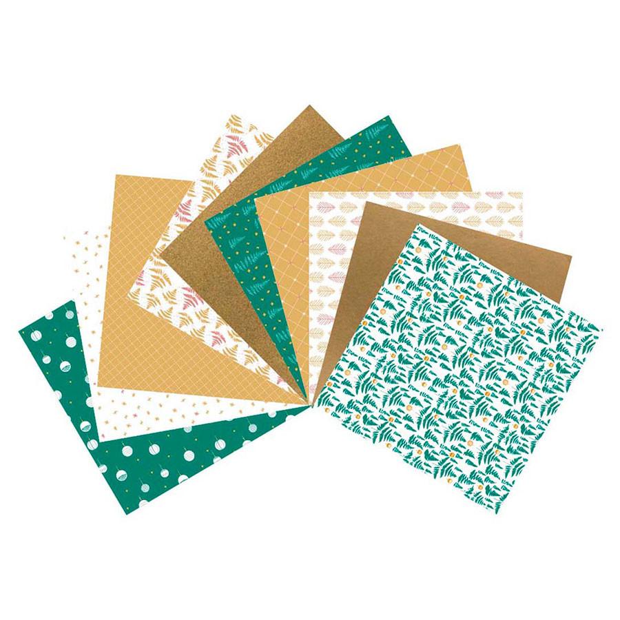Assortiment de 10 papiers Réveillon vert