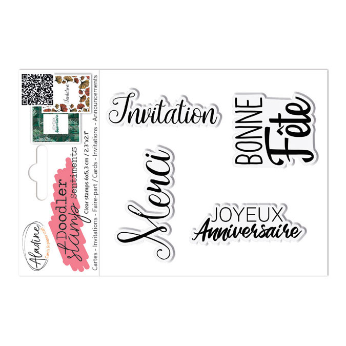 Tampons transparents Doodler Stamp Sentiments 6