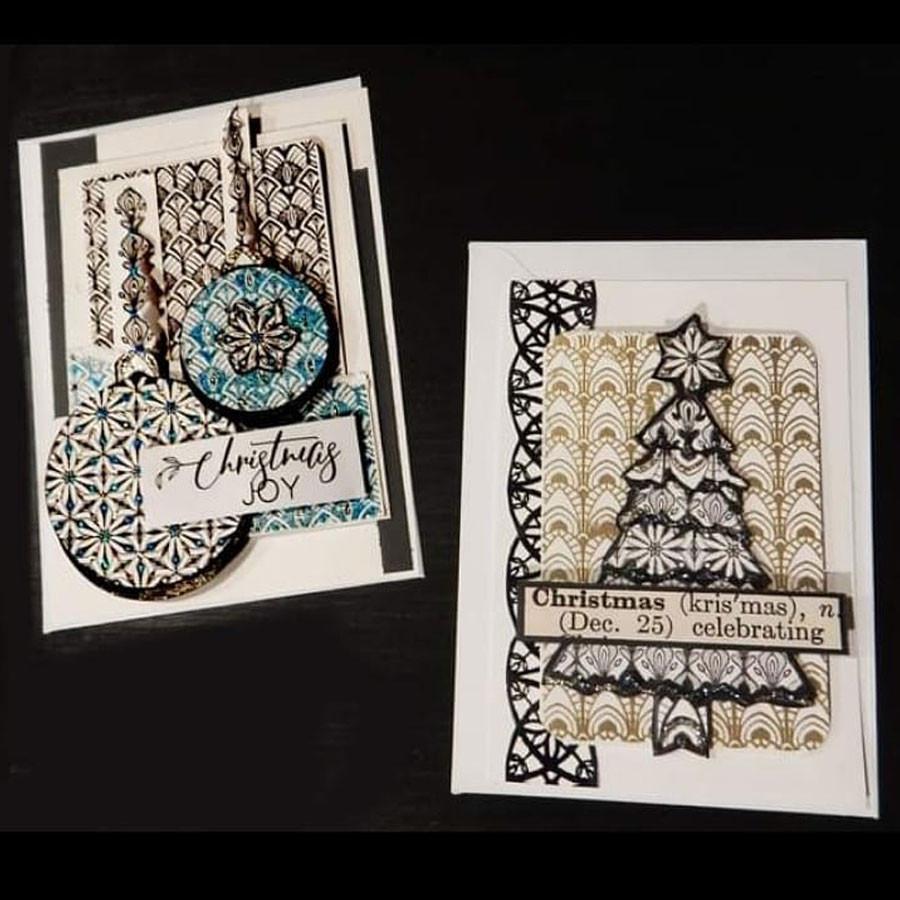 Tampons Cling Papier peint Vintage #3 - 4 pcs