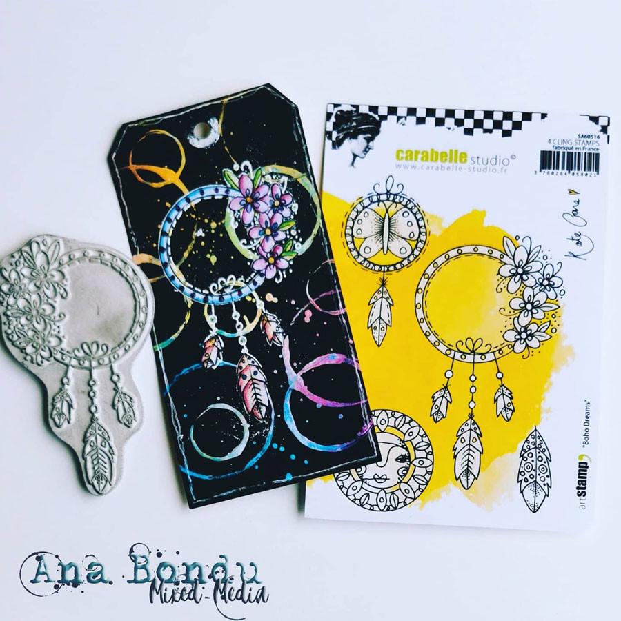 Tampons Cling Rêves Boho - 4 pcs