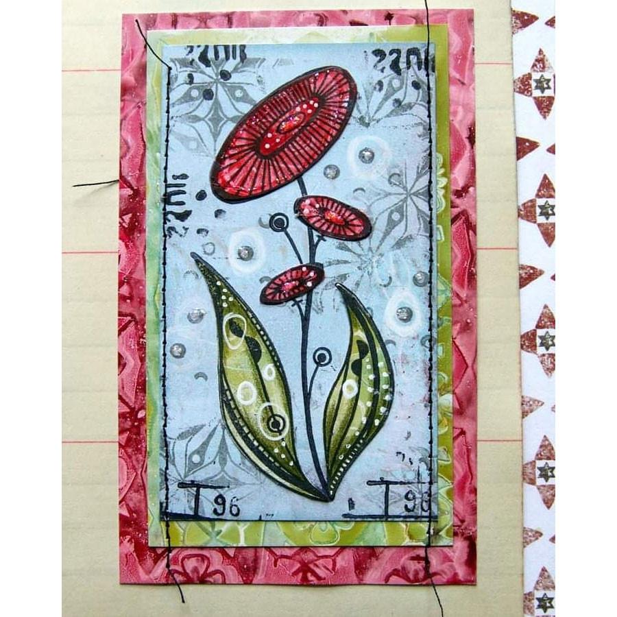 Tampons Cling Fleurs de soleil - 3 pcs
