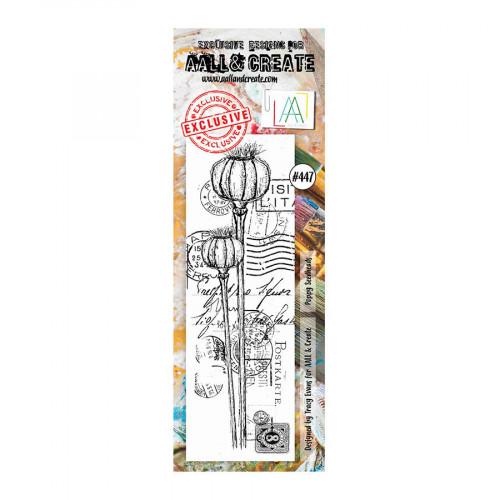 Tampons transparents #447 Fond aux coquelicots