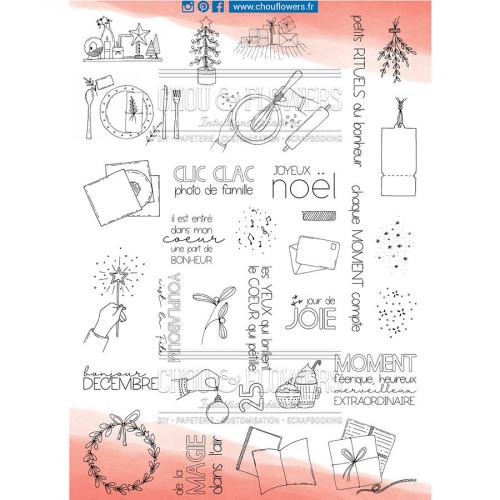 Tampons transparents 25 jours à la maison - 33 pcs