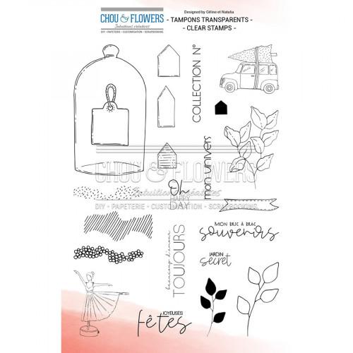 Tampons transparents Jardin secret - 22 pcs