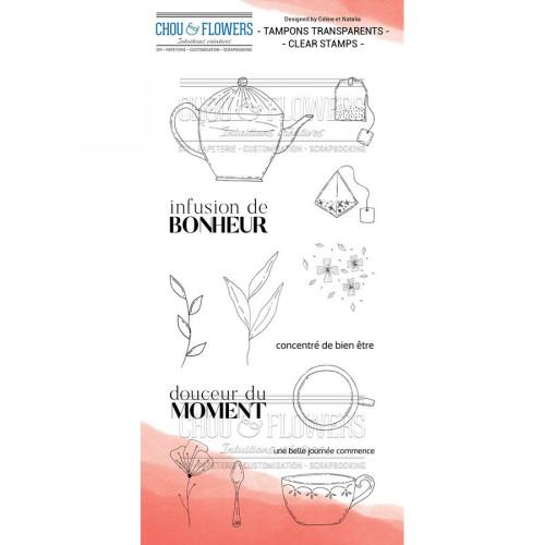 Tampons transparents Infusion de bonheur - 14 pcs