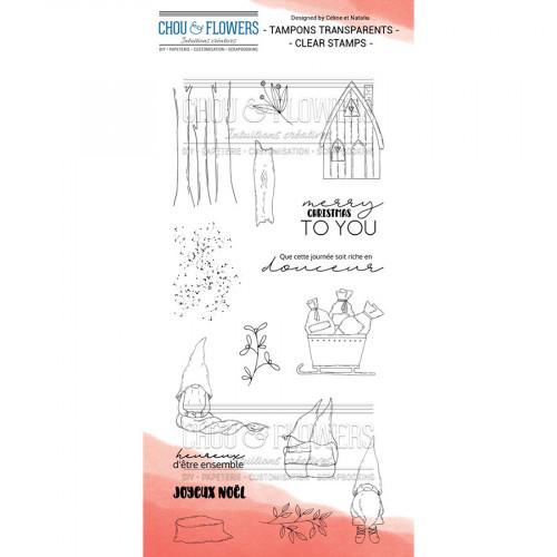 Tampons transparents Les gnomes - 16 PCS