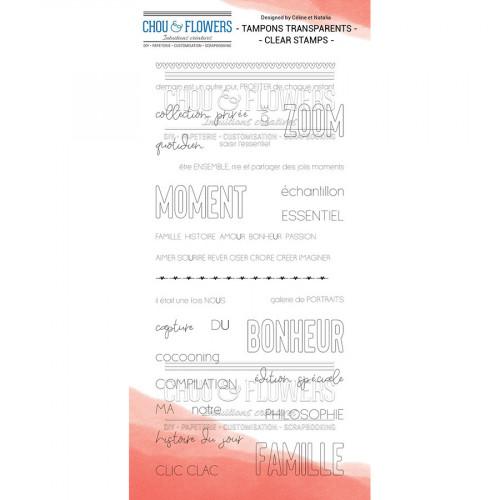 Tampons transparents Les jolies phrases - 29 pcs