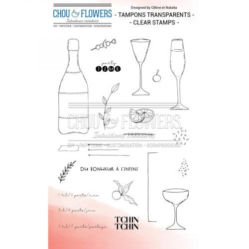 Tampons transparents Tchin Tchin - 22 pcs