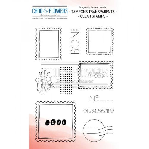 Tampons transparents Les timbres - 12 pcs