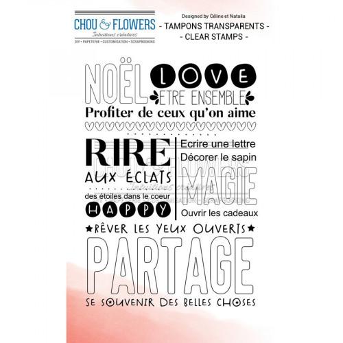 Tampon transparent Texte Noël