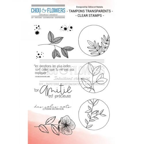 Tampons transparents Plantes étoilées - 11 pcs