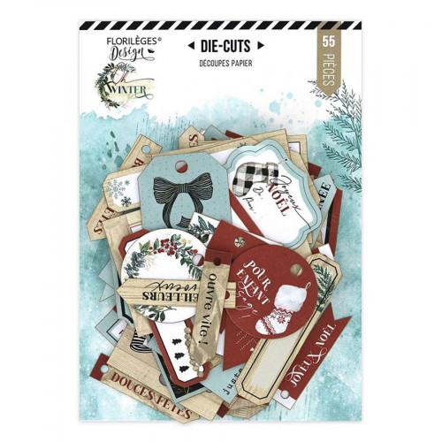 Die-cuts étiquettes cadeaux Oh Winter