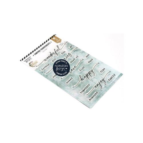 Tampons transparents Wonderful memories - 19 pcs