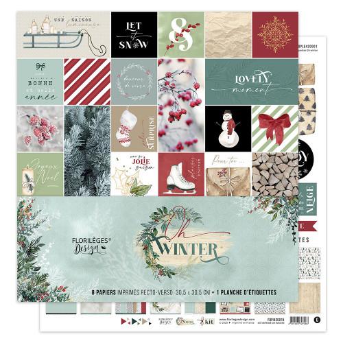 Oh Winter Kit papiers imprimés 30 x 30 cm