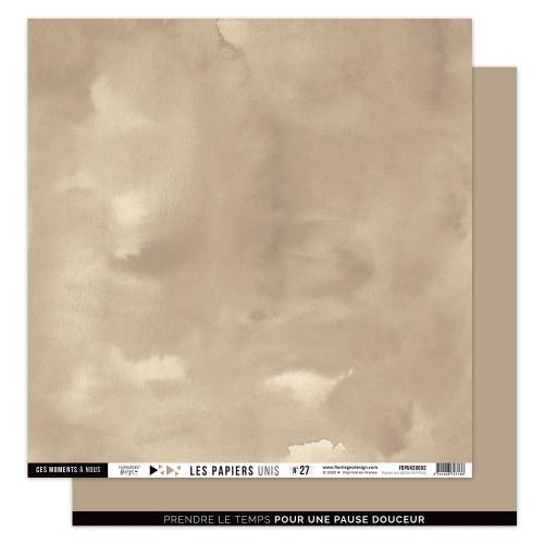 Papier uni #27 beige papyrus