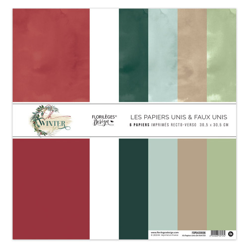 Oh Winter Kit papiers unis 30 x 30 cm