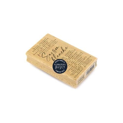 Tampon bois Saison blanche - 6 x 10 cm