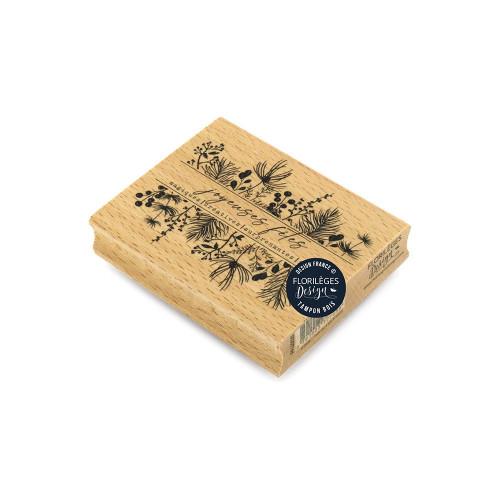 Tampon bois Fêtes magiques - 10 x 8 cm