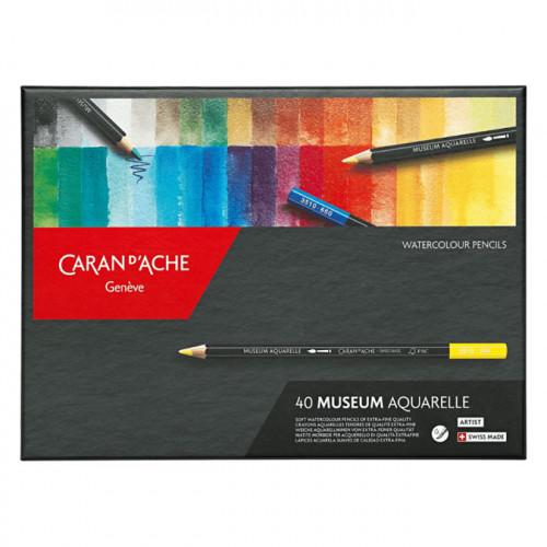 Crayon de couleur Museum Aquarelle Boite de 40 couleurs