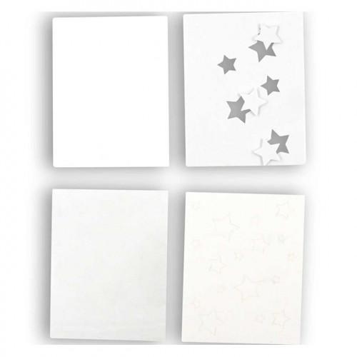 Carte double shaker Étoile 11 x 14 cm