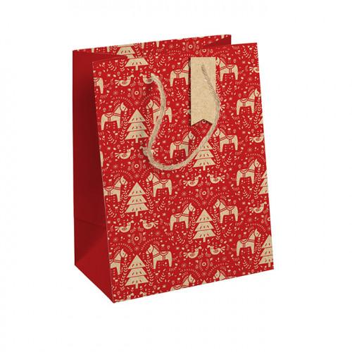 Sac Dalécarlie rouge 21,5 x 10,2 x 25,3 cm