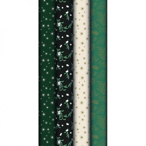Papier cadeau Émeraude rouleau 2 x 0,7 m