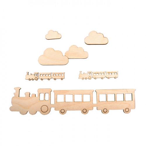 Éléments en bois Petit train