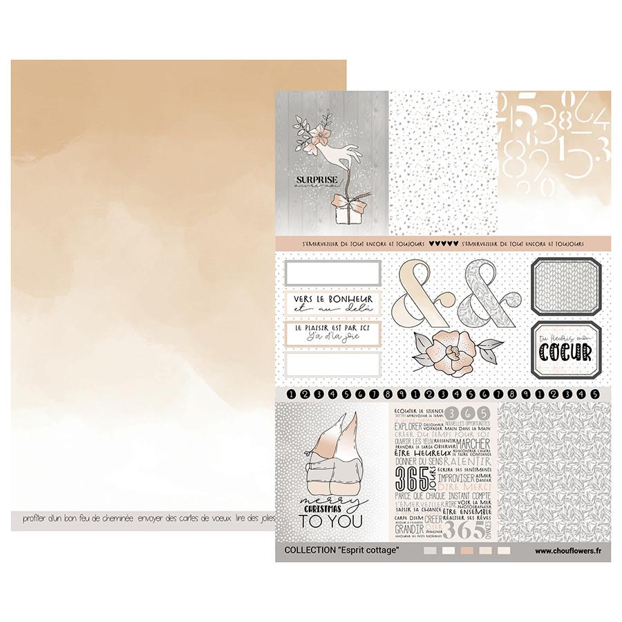 Papiers assortis Esprit Cottage - A4