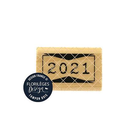 Tampon bois 2021 - 3 x 2 cm