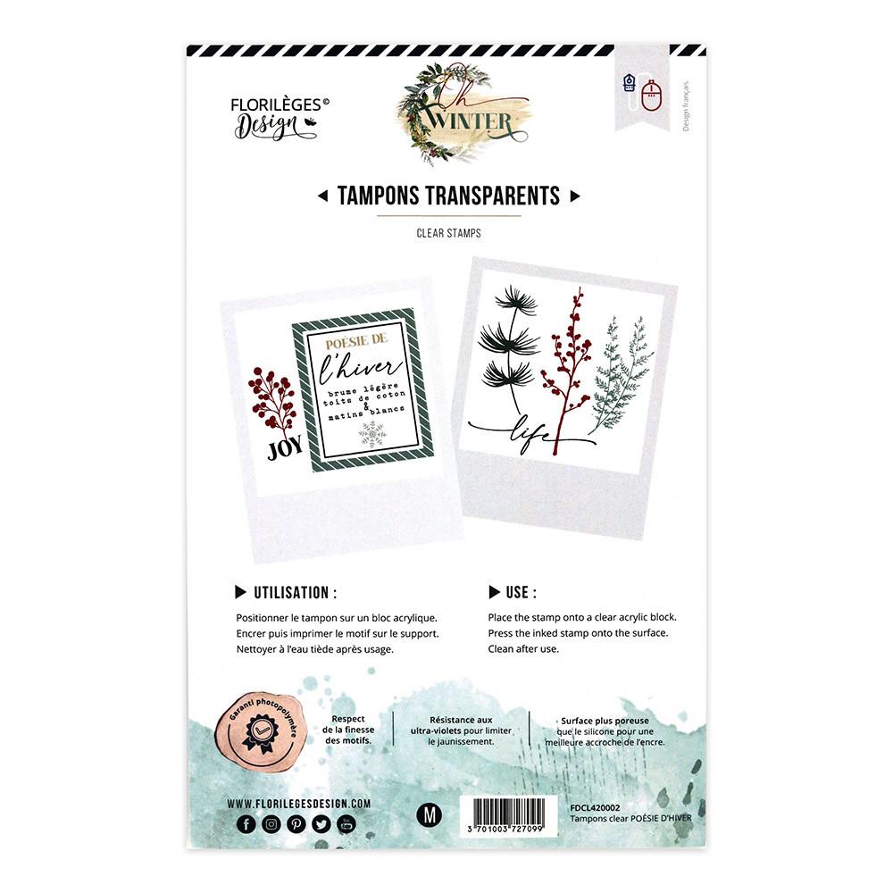 Tampons transparents Poésie d'hiver - 13 pcs