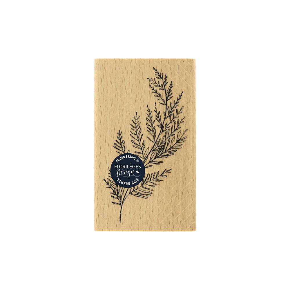 Tampon bois Feuillage dansant - 6 x 10 cm