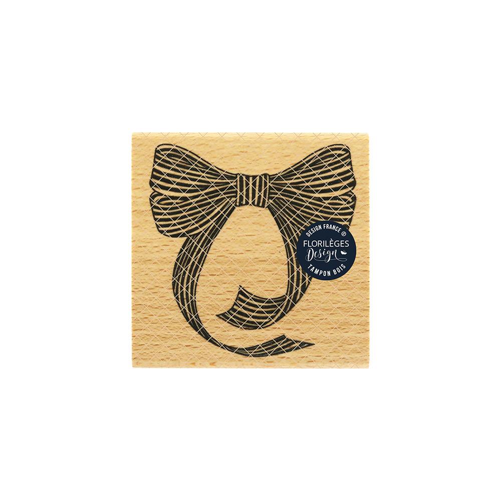 Tampon bois Nœud rayé - 8 x 8 cm