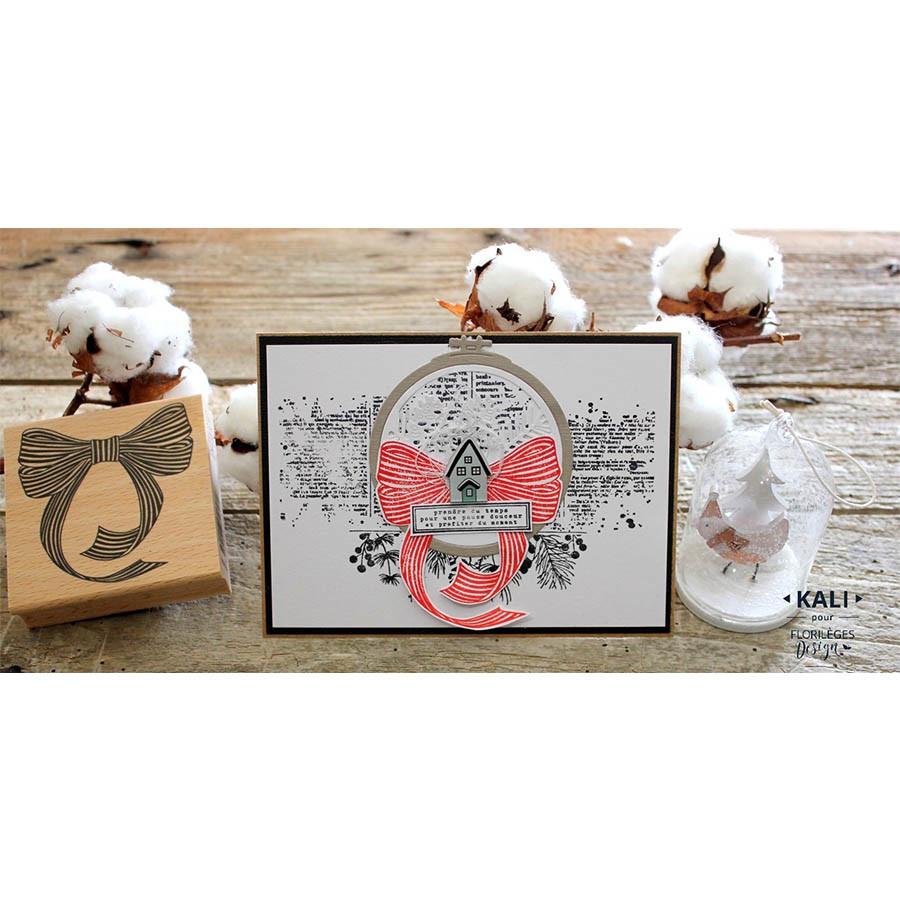 Tampon bois Maisonnettes - 15 x 6 cm