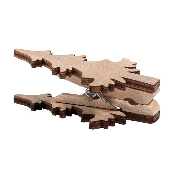 Pince Sapin de Noël en bois 4 pcs