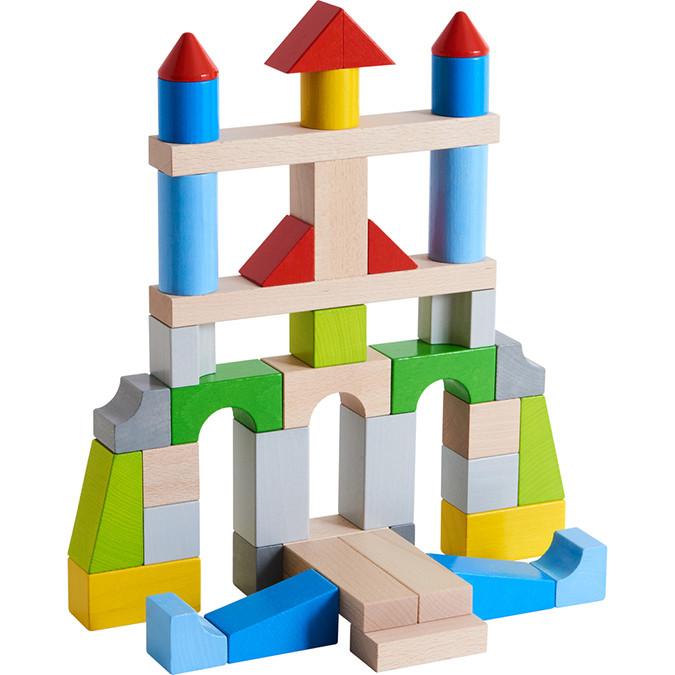 Jeu de construction Blocs en bois Multicolores 43 pcs