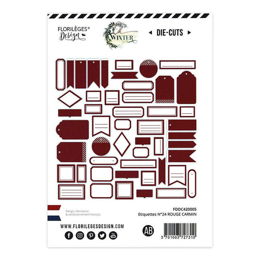 Assortiment Etiquettes #24 - carmin