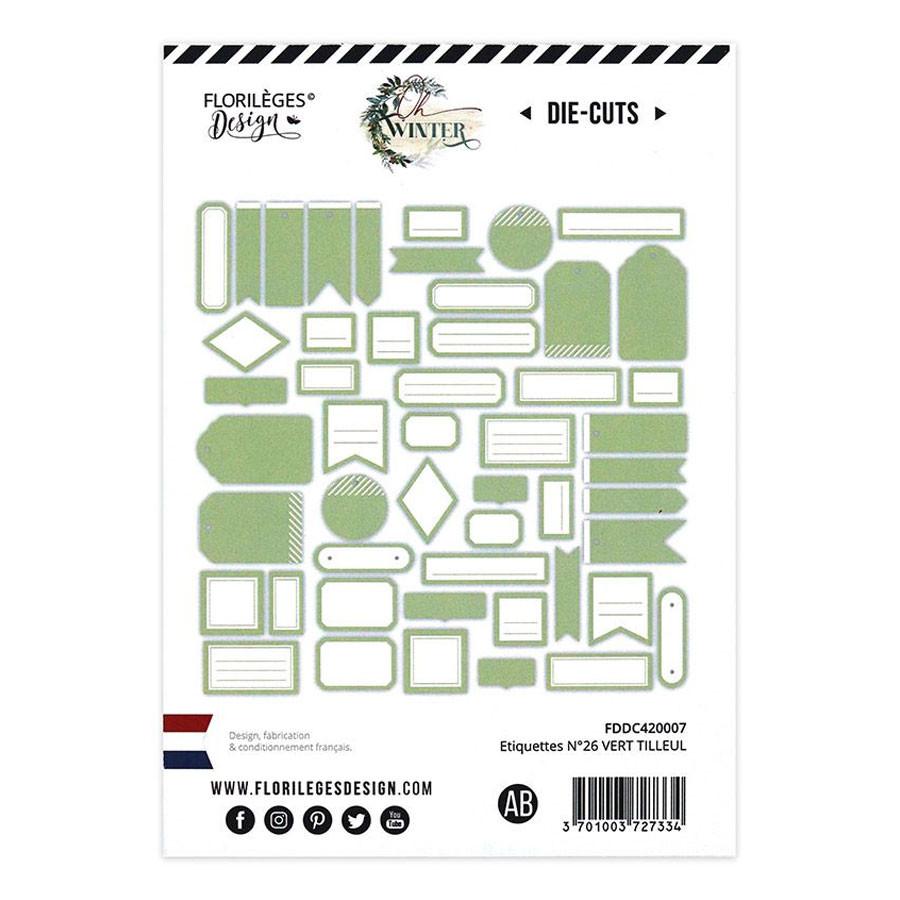 Assortiment Etiquettes #26 - vert tilleul
