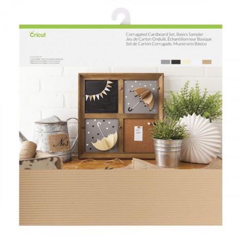 Carton ondulé et cardstock 30 x 30 cm - 20 feuilles